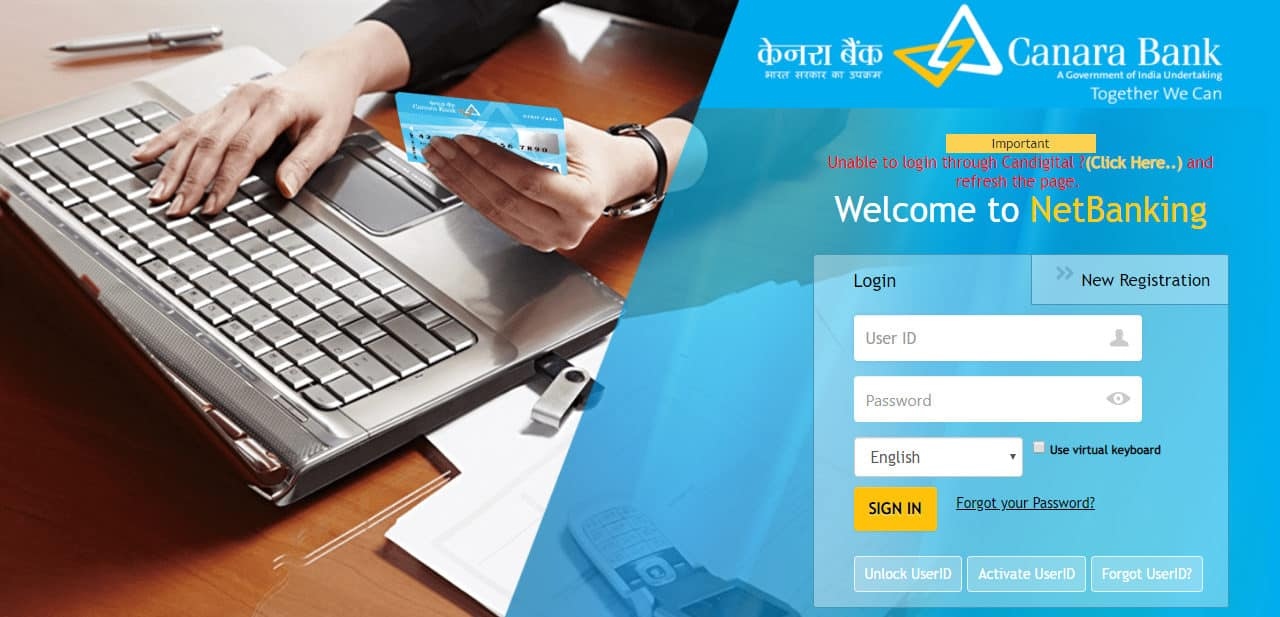 Canara Bank Net Banking, Login, Register, Reset, Unblock, Activate
