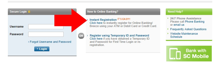 Standard Chartered Net Banking Instant Registration