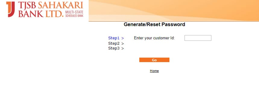 TJSB Bank Net Banking Reset Password
