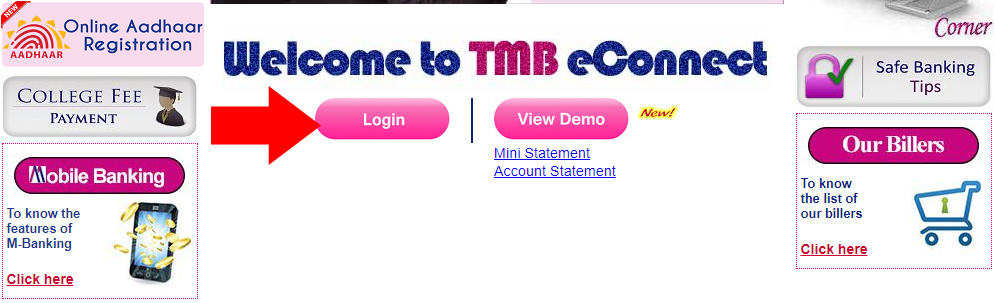 TMB Net Banking Login, Tamilnad Mercantile bank Register