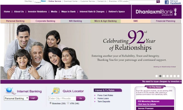 Dhanlaxmi Bank Customer Care, Phone Banking, Account Balance Miss Call