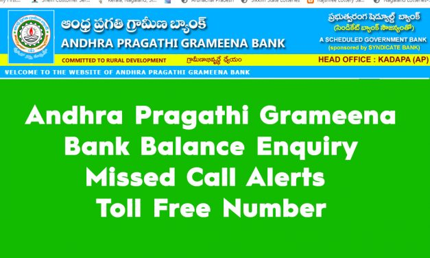 Andhra Pragathi Grameena Bank Balance Enquiry, Missed Call Alerts, and Toll Free Number