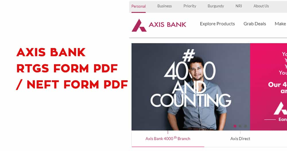 Axis Bank RTGS Form PDF – Axis Bank NEFT Form PDF