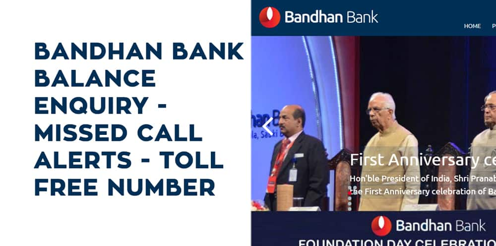 Bandhan Bank Balance Enquiry, Missed Call Alerts, and Toll Free Number
