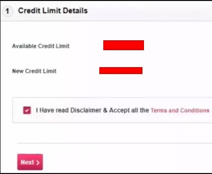Axis Bank Increase Credit Card limit Net Banking