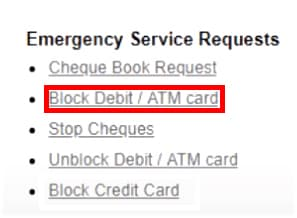 Block ICICI Debit/ATM Card Net Banking