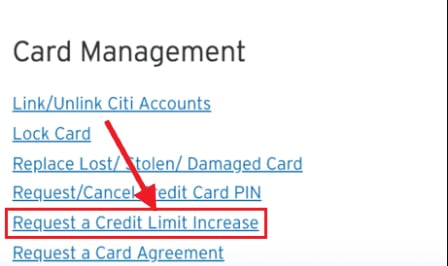 Citibank Credit Card management Net Banking