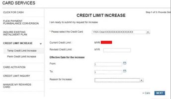Citibank Increase Credit Card Limit Form