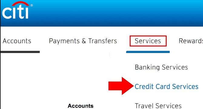 Citibank Increase Credit Card limit Net Banking