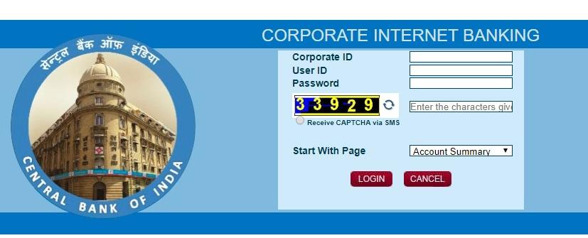 CBI Bank Corporate Net Banking Login