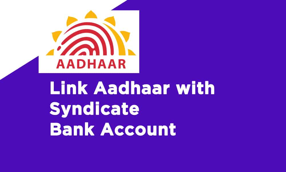 Link Aadhaar With Syndicate Bank Account
