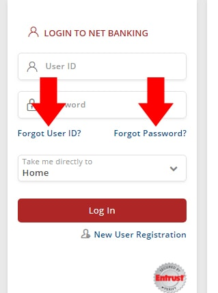 South Indian Bank Forget User ID