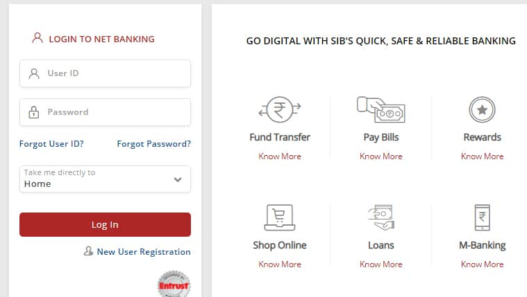 South Indian Bank Net Banking Login