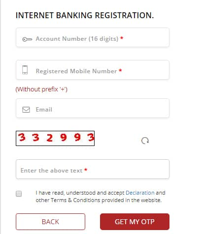 South Indian Bank Net Banking Register Form