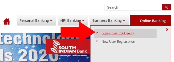 South Indian Net Banking Login