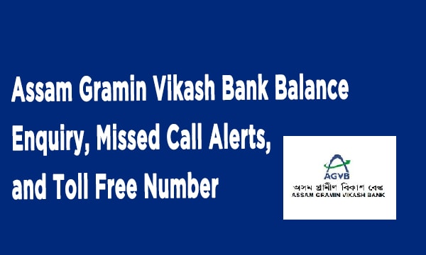 Assam Gramin Vikash Bank Balance Enquiry, Missed Call Alerts, and Toll Free Number